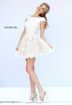 ebb44ccdba9 Sherri Hill 32257 Short Lace Prom Dress