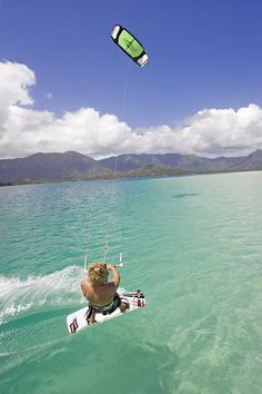 Kitesurfing at the perfect spot