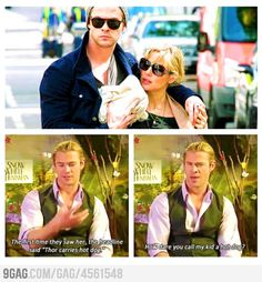 """Thor carries """"hot dog"""""""