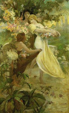 1894 Spirit of Spring Alphonse Mucha