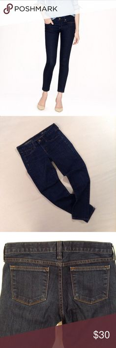 "🌙 J. CREW 🌙 Ankle Toothpick Jeans #59 Classic ankle jeans, wardrobe staple  CONDITION: EUC, no issues  CHEST: WAIST: 30"" LENGTH: 35"" INSEAM: 27"" *All measurements taken while item is laid flat (doubled when necessary) and measured across the front  MATERIAL: cotton poly spandex  STRETCH: minimal  INSTAGRAM @ORNAMENTALSTONE 🚫Trading  🚫Modeling J. Crew Jeans Ankle & Cropped"