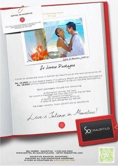 'So Lovers Packages' au Sofitel So Mauritius. Tél: 605 5800