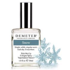 Snow doesn't really have a scent to it since it's just frozen water, but boy, does this perfume ever smell like I would imagine snow to!