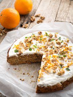 Ciasto marchewkowe pomarańczowo-tymiankowe wegańskie, bezglutenowe, bez cukru