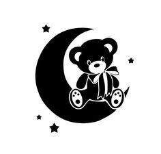 Baby Flash Cards, Teddy Bear Tattoos, Wood Burning Stencils, Moon Silhouette, American Indian Tattoos, Cricut Craft Room, Stencil Templates, Cute Teddy Bears, Stencil Art