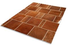 Cowhide patched rug