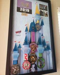 Snorkeling run disney medal display, run disney costume…