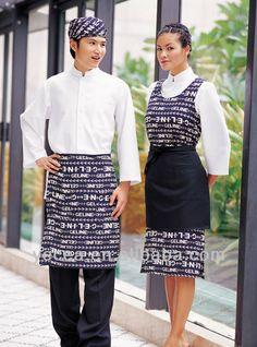 New design restaurant waiter uniform $9.6~$12