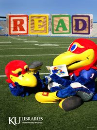 READ with Jay Hawk and Baby Jay @ KU Libraries!