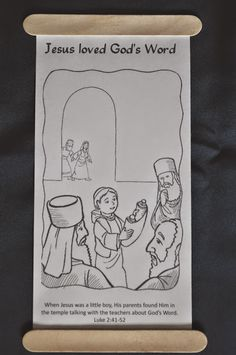 The boy Jesus in the temple scroll coloring page. The boy Jesus in the temple scroll coloring page. Sunday School Activities, Church Activities, Bible Activities, Sunday School Crafts, Sunday School Lessons, Bible School Crafts, Group Activities, Pre School, Jesus In The Temple