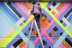Neon Colors Exlode in Maya Hayuk's New Mural in Toronto | Hi-Fructose Magazine