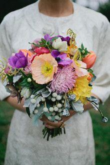 Multi-colored wedding bouquet