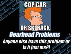Cop car or ski rack... that is the question!  #gearheadproblems #blueprintengines