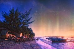 astral sky on lombok beach