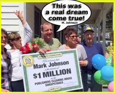 Mark Johnson $1 Million Winner
