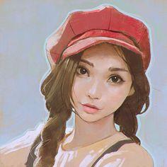 Kai Fine Art is an art website, shows painting and illustration works all over the world. Character Inspiration, Character Art, Character Design, Portrait Illustration, Character Illustration, Anime Kawaii, Comic Artist, Art Girl, Amazing Art