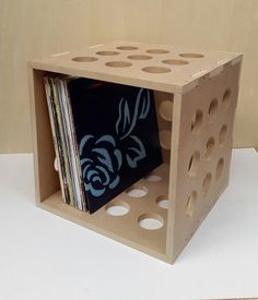 12 Vinyl LP Record Storage Cube Box Crate Shelf by CraftyandCoUK