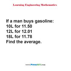 If a man buys gasoline: for for for Find the average. Practice Exam, Multiple Choice, Algebra, Mathematics, Read More, This Or That Questions, Learning, Math, Studying
