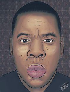 Digital Portrait- Jay-Z on Behance