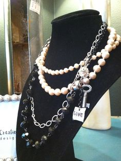 """""""Jackie O.""""   by Chell's Chic Creations  www.chellschiccreationscustomjewelrydesign.com"""