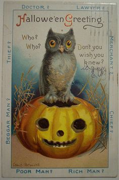Vintage Halloween Postcard Ellen H Clapsaddle by riptheskull, via Flickr