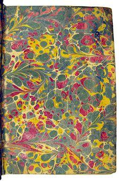 Marbled endpaper from Anthologia Graeca Planudea [Greek]