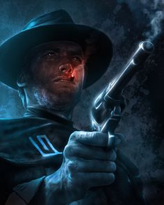"""Man With No Name by *caseycallenderart Clint Eastwood as """"Blondie"""" from classic spaghetti western """"The Good, The Bad and The Ugly"""""""