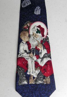 The SATURDAY EVENING POST Santas Lap Leyendecker Christmas Holiday Necktie #SaturdayEveningPost