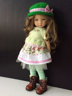 "Outfit for Dianna Effner Doll Little Darling 13"" 4pc. #Unbranded"