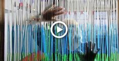 Beaded Curtains Doorway, Rag Curtains, Hippie Curtains, Porte Diy, Curtain Tutorial, Diy Straw, Boho Wall Hanging, How To Make Curtains, Boho Diy
