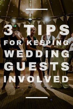 Wedding Reception Idea - Here are some ways to really involve your wedding guests in the reception. Read more at http://blog.myweddingreceptionideas.com/2018/03/3-tips-for-keeping-wedding-guests.html