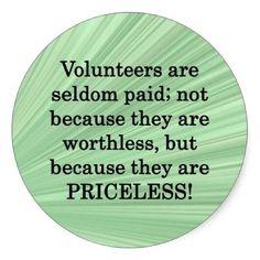 Priceless volunteers!