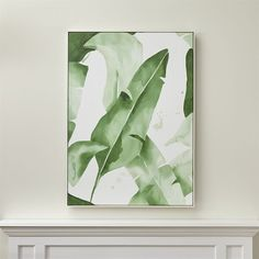 Crate & Barrel Beverly Palms Print (795 CAD) ❤ liked on Polyvore featuring home, home decor, wall art, green wall art, abstract home decor, white abstract painting, green home decor and white home decor