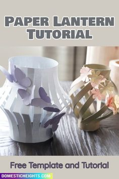 easy DIY decor, fun paper crafts projects Arts And Crafts Projects, Diy Home Crafts, Recycled Jars, Lantern Designs, Fairy Jars, How To Make Lanterns, All Paper, Paper Lanterns, Paper Cards