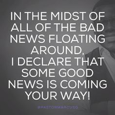 Reflexiones: good news are floating