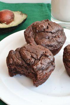 Healthy Wholemeal Chocolate Avocado Muffins using almond milk #baking #almondmilk #almondbreeze