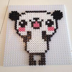 Kawaii panda hama beads by mlsjensen