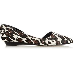Sigerson Morrison Gertiey leopard-print calf hair point-toe flats (540 PEN) ❤ liked on Polyvore featuring shoes, flats, animal print, leopard print pointed toe flats, slip on flats, pointy toe flats, pointed toe flats and pointed-toe leopard flats