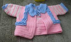 Pastel Patriotic Ruffled baby sweater