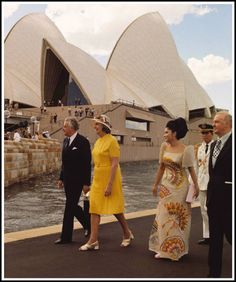 Prime Minister Whitlam & wife Margaret with the Philippines 'First Lady', Imelda Marcos, at the Sydney Opera House during the visit of President Ferdinand Marcos and Mrs Marcos, October Ferdinand, Philippine Army, President Of The Philippines, Filipiniana Dress, Filipino Culture, Maria Clara, Walk In Wardrobe, Army Love, Power To The People