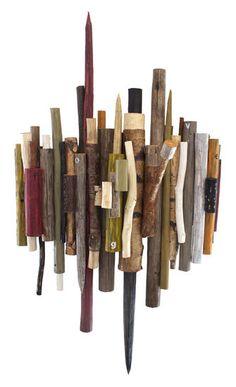 "Kari Södö, ""Sweet Harmony"", mixed media on wood, 2013 Post Impressionism, Cool Art, Mixed Media, Sculptures, Wood, Sweet, Modern, Candy, Trendy Tree"