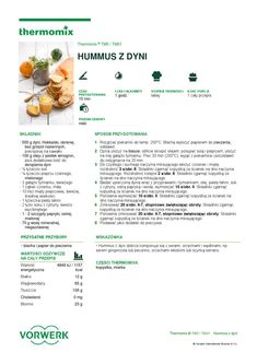 thermomix - Hummus z dyni Hummus, Make It Simple, Food And Drink, Pasta, Drinks, Cooking, Recipes, Thermomix, Hokkaido