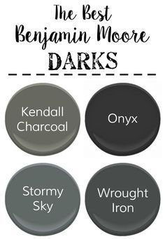 The Best Neutral Paint Colors | blesserhouse.com - The best neutral paint colors from Benjamin Moore with cool grays, warm grays, whites, and darks to create a designer palette for your home. #paintcolors