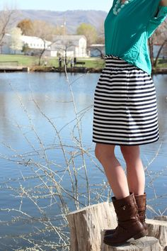 skirt with stripes!