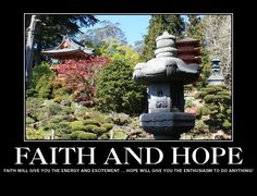 Faith and Hope are key to success