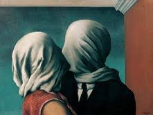 Rene Magritte - The Lovers - a major figure in the Surrealist movement and is considered by many to be the greatest Belgian artist of the century. From 1916 – Magritte studied at the Académie Royale des Beaux-Arts in Brussels under Constant Montald Rene Magritte The Lovers, Magritte Paintings, Artist Magritte, Art Paintings, Renoir, Museum Of Modern Art, Surreal Art, Love Art, Oeuvre D'art