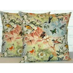 Birds Of A Feather Pillow Cover (€11) ❤ liked on Polyvore featuring home, home decor, throw pillows, patterned throw pillows, handmade home decor, bird home decor and bird throw pillows