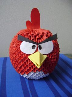 Origami Angry Birds --full tutorial!!  Amazing.