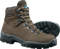 """The 7 """" Nubuck Hiker is uninsulated for comfort in warmer temperatures and has the added durability of full-grain nubuck leather. Men's sizes: D and EE widths. Half sizes to Color: Brown. Gore Tex Hiking Boots, Mens Hiking Boots, Men Boots, Outdoor Gear, Footwear, Brown, Accessories, Shoes, Leather Men"""