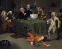 "England 1732 A Midnight Modern Conversation"" by William Hogarth (British painter, Rococo, Baroque, European Paintings, Classic Paintings, Beautiful Paintings, William Hogarth, Georg Trakl, Google Art Project, Art Google"